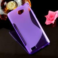 Силиконовый S чехол для LG Max Фиолетовый