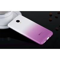 Силиконовый градиентный полупрозрачный чехол для Meizu M2 Mini Фиолетовый