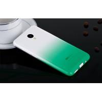 Силиконовый градиентный полупрозрачный чехол для Meizu M2 Mini Зеленый