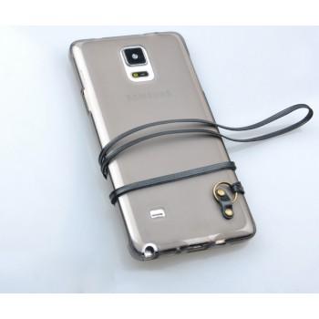 Силиконовый матовый полупрозрачный чехол с кожаным ремешком для Fly IQ4516 Tornado Slim Octa