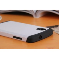Премиум силикон-поликарбонат чехол с повышенной защитой для Google Nexus 5 Белый