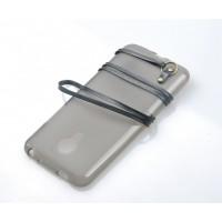 Силиконовый матовый полупрозрачный чехол с кожаным ремешком для Meizu M1 Note