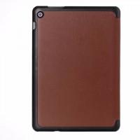 Чехол флип подставка сегментарный на поликарбонатной основе для ASUS ZenPad 10 Коричневый