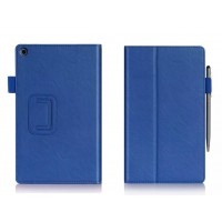 Чехол подставка с внутренними отсеками серия Full Cover для ASUS ZenPad 8 Синий