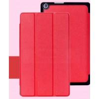 Чехол флип подставка сегментарный на поликарбонатной основе для ASUS ZenPad 8 Красный