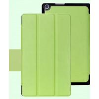 Чехол флип подставка сегментарный на поликарбонатной основе для ASUS ZenPad 8 Зеленый