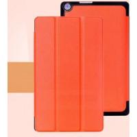 Чехол флип подставка сегментарный на поликарбонатной основе для ASUS ZenPad 8 Оранжевый