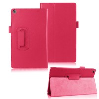 Чехол подставка с рамочной защитой для ASUS ZenPad 8 Пурпурный