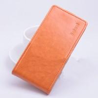 Чехол вертикальная книжка на силиконовой основе с магнитной застежкой для ASUS Zenfone Selfie Оранжевый