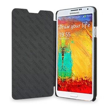 Кожаный чехол горизонтальная книжка (нат. кожа) для Samsung Galaxy Note 3