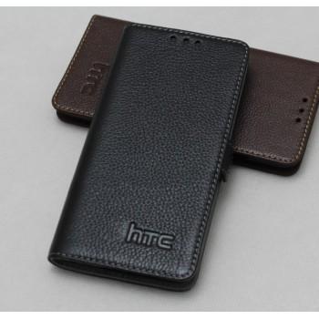 Кожаный чехол горизонтальная книжка (нат. кожа) с крепежной застежкой для HTC Butterfly S