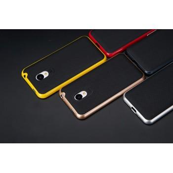 Двухкомпонентный чехол с силиконовой накладкой и поликарбонатным бампером для Meizu M1