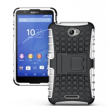 Антиударный пластиковый чехол экстрим защита с подставкой для Sony Xperia E4