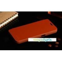 Чехол флип для Samsung Galaxy Core 2 Коричневый