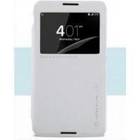 Чехол флип на пластиковой основе с окном вызова для Sony Xperia E4 Белый