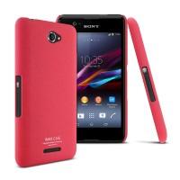 Пластиковый матовый чехол с повышенной шероховатостью для Sony Xperia E4 Красный