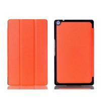 Чехол флип подставка сегментарный на поликарбонатной основе для ASUS ZenPad 7.0 Оранжевый