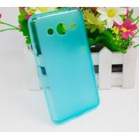 Силиконовый чехол для Samsung Galaxy Core 2 Голубой