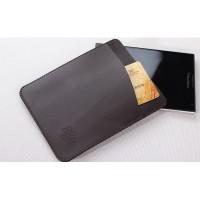 Кожаный мешок с отделением для карт для BlackBerry Passport Silver Edition Коричневый