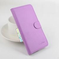 Чехол портмоне подставка на силиконовой основе с крепежной застежкой для ASUS Zenfone Selfie Фиолетовый