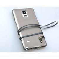 Силиконовый матовый полупрозрачный чехол со шнурком для Samsung Galaxy Note 3