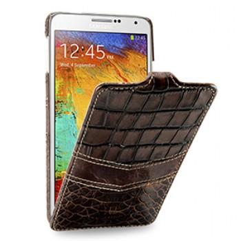 Эксклюзивный кожаный чехол вертикальная книжка (3 вида нат. кожи) для Samsung Galaxy Note 3