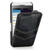 Эксклюзивный кожаный чехол ручной работы книжка вертикальная (3 вида нат. кожи) для BlackBerry Z10