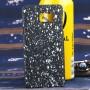Пластиковый матовый непрозрачный чехол с голографическим принтом Звезды для Samsung Galaxy Note 5