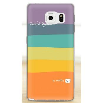 Силиконовый дизайнерский чехол с принтом для Samsung Galaxy Note 5
