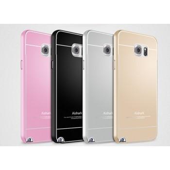 Двухкомпонентный чехол с металлическим бампером и поликарбонатной накладкой для Samsung Galaxy Note 5