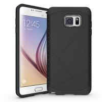 Дизайнерский антиударный двухкомпонентный чехол силикон/поликарбонат для Samsung Galaxy Note 5 Черный