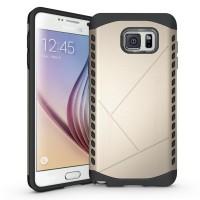 Дизайнерский антиударный двухкомпонентный чехол силикон/поликарбонат для Samsung Galaxy Note 5 Бежевый
