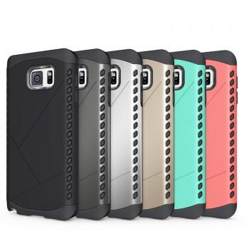 Дизайнерский антиударный двухкомпонентный чехол силикон/поликарбонат для Samsung Galaxy Note 5