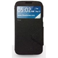 Чехол портмоне подставка с окном вызова и дизайнерской магнитной застежкой для Samsung Galaxy Note 5 Черный