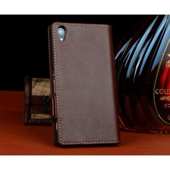 Кожаный чехол-портмоне для Sony Xperia T3