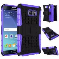 Антиударный силиконовый чехол экстрим защита с подставкой для Samsung Galaxy Note 5 Фиолетовый