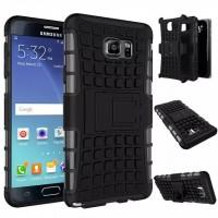 Антиударный силиконовый чехол экстрим защита с подставкой для Samsung Galaxy Note 5 Черный
