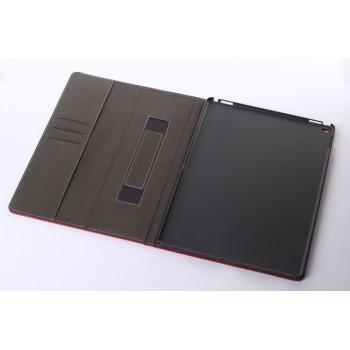 Кожаный чехол подставка с внутренними отсеками и поддержкой кисти для Ipad Pro