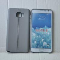 Силиконовый матовый непрозрачный чехол дизайн Нити для Samsung Galaxy Note 5 Серый