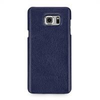 Кожаный чехол накладка (нат. кожа) серия для Samsung Galaxy Note 5 Синий