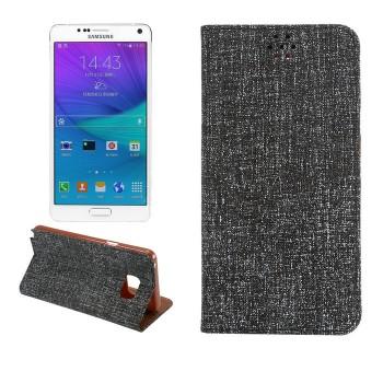 Текстурный чехол флип подставка с отделением для карты и тканевым покрытием для Samsung Galaxy Note 5