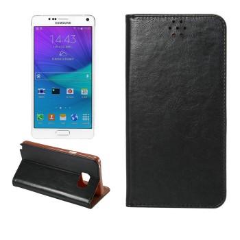 Чехол флип подставка на силиконовой основе с отделением для карты для Samsung Galaxy Note 5