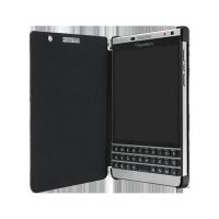Оригинальный кожаный чехол горизонтальная книжка (нат. кожа) для BlackBerry Passport Silver Edition
