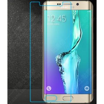 Ультратонкое износоустойчивое сколостойкое олеофобное защитное стекло-пленка на плоскую часть экрана для Samsung Galaxy S6 Edge Plus