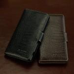 Кожаный чехол портмоне (нат. кожа крокодила) для Sony Xperia Z3+