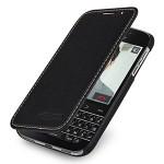 Кожаный чехол горизонтальная книжка (нат. кожа) для Blackberry Classic