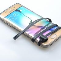 Силиконовый матовый полупрозрачный чехол с шнурком для Samsung Galaxy S6 Edge