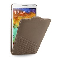Эксклюзивный кожаный чехол вертикальная книжка (нат. тисненая кожа) ручной работы с крепежной застежкой для Samsung Galaxy Note 3
