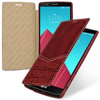 Эксклюзивный кожаный чехол горизонтальная книжка (2 вида нат. кожи) для LG G4