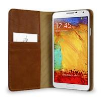 Кожаный чехол портмоне (нат. вощеная кожа) для Samsung Galaxy Note 3